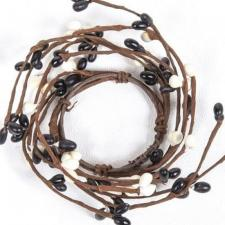 1.5 IN CANDLE RING; BLACK, CREAM, 96 BERRIES