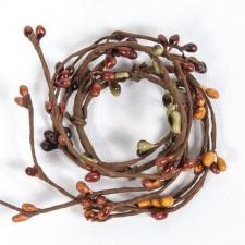 1.5 IN CANDLE RING;  BURNT ORANGE, MUSTARD,  MIX, 96 BERRIES