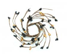 1.5 IN CANDLE RING; 115 BERRIES; BLACK-TAN