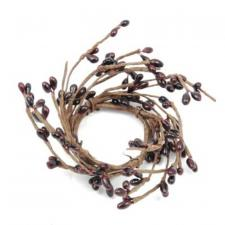 1.5 IN CANDLE RING; 115 BERRIES, BURGUNDY