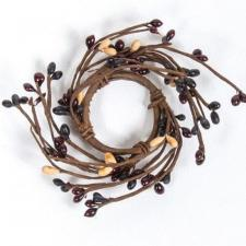 1.5 IN CANDLE RING; 115 BERRIES; BURGUNDY, BLACK, TAN