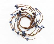 1.5 IN CANDLE RING; 115 BERRIES; WILLIAMSBURG BLUE-CREAM