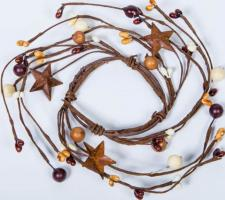2.5 IN MIXED BERRY CANDLE RING WITH STARS; BROWN MIX